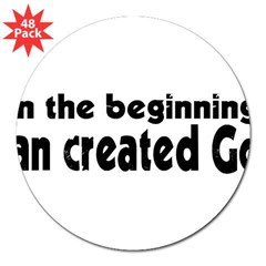 "in the beginning 3"" Lapel Sticker (48 pk)"