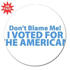 "I Voted For The American 3"" Lapel Sticker (48 pk)"