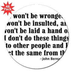 "I WON'T BE WRONGED... Rectangle 3"" Lapel Sticker (48 pk)"