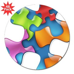 "PuzzlesPuzzle (MC) 3"" Lapel Sticker (48 pk)"