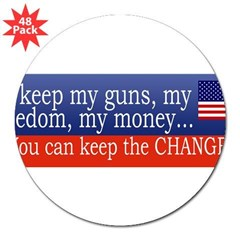 "Keep the Change 3"" Lapel Sticker (48 pk)"