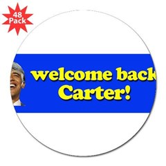 "Welcome Back Carter 3"" Lapel Sticker (48 pk)"