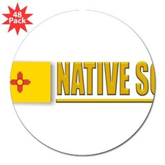 "New Mexico Native Son 3"" Lapel Sticker (48 pk)"