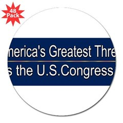 "America's Greatest Threat 3"" Lapel Sticker (48 pk)"