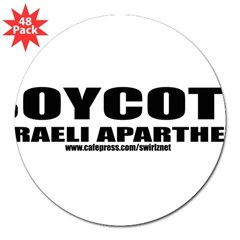 "Boycott Apartheid 3"" Lapel Sticker (48 pk)"