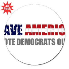 "Save America 3"" Lapel Sticker (48 pk)"