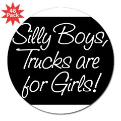 "Silly Boys Rectangle 3"" Lapel Sticker (48 pk)"