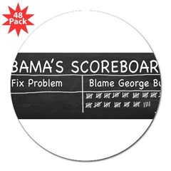 "Obama Scoreboard 3"" Lapel Sticker (48 pk)"
