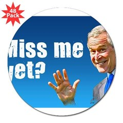 "Miss Me Yet? Rectangle 3"" Lapel Sticker (48 pk)"