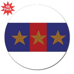 "Marine Corps Recruiting 3 star (Bumper) 3"" Lapel Sticker (48 pk)"