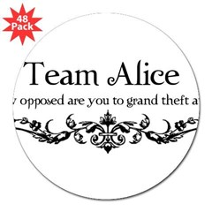 "Team Alice Theft 3"" Lapel Sticker (48 pk)"