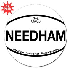 "Needham Town Fore 3"" Lapel Sticker (48 pk)"