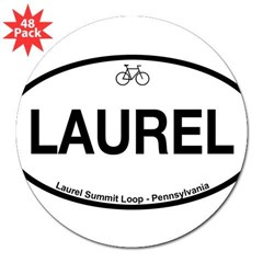"Laurel Summit Loop 3"" Lapel Sticker (48 pk)"