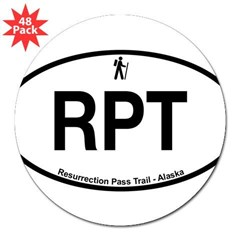 "Resurrection Pass Trail 3"" Lapel Sticker (48 pk)"