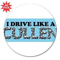 "drive like a cullen remix 3"" Lapel Sticker (48 pk)"