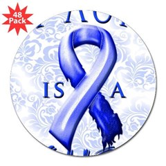 My Aunt Is A Fighter 3&quot; Lapel Sticker (48 pk)