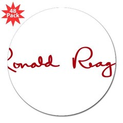 "Ronald Reagan Signature 3"" Lapel Sticker (48 pk)"