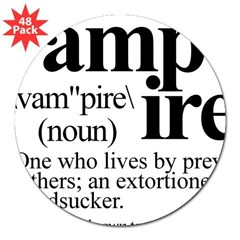 "Definition of a Vampire 3"" Lapel Sticker (48 pk)"