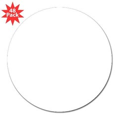 "Oval 3"" Lapel Sticker (48 pk)"