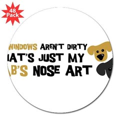 "Lab Nose Art 3"" Lapel Sticker (48 pk)"