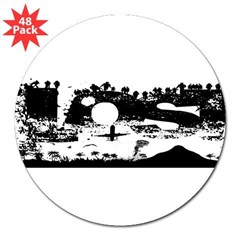 "Lost Island White 3"" Lapel Sticker (48 pk)"