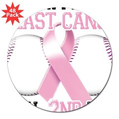 "Don't Let Breast Cancer Steal 2nd Base 3"" Lapel Sticker (48 pk)"