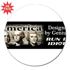 "Designed by Geniuses 3"" Lapel Sticker (48 pk)"