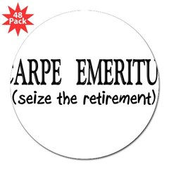 "Retired II 3"" Lapel Sticker (48 pk)"