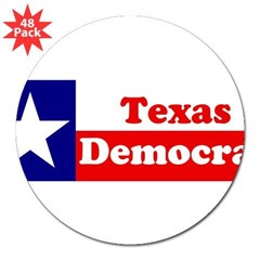 "Texas Democrat 3"" Lapel Sticker (48 pk)"