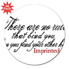 "No rules bind Imprinted 3"" Lapel Sticker (48 pk)"