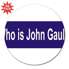 "Who is John Gault? 3"" Lapel Sticker (48 pk)"