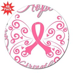 "Breast Cancer Butterfly Hope 3"" Lapel Sticker (48 pk)"
