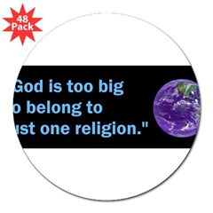 "Big God I 3"" Lapel Sticker (48 pk)"