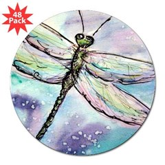 "Dragonfly, Beautiful, 3"" Lapel Sticker (48 pk)"