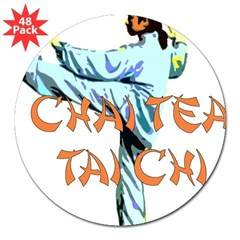 Chai Tea Tai Chi 3&quot; Lapel Sticker (48 pk)