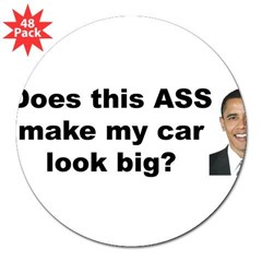 "Does this ASS make my car look big? 3"" Lapel Sticker (48 pk)"
