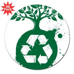 "Recycle 3"" Lapel Sticker (48 pk)"