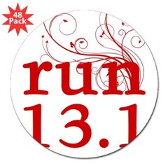 "run 13.1 3"" Lapel Sticker (48 pk)"