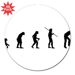 "Photog Evolution 3"" Lapel Sticker (48 pk)"