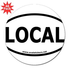 "Local Oval Car 3"" Lapel Sticker (48 pk)"