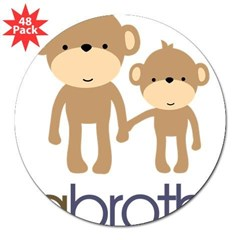 "Big Brother Monkey 3"" Lapel Sticker (48 pk)"