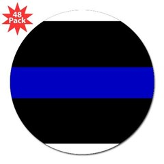"The Thin Blue Line 3"" Lapel Sticker (48 pk)"