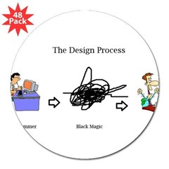 "The Design Proces 3"" Lapel Sticker (48 pk)"