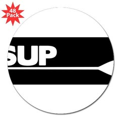 "SUP Paddle black 3"" Lapel Sticker (48 pk)"