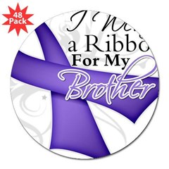 "Brother Hodgkins Lymphoma 3"" Lapel Sticker (48 pk)"