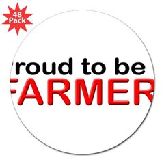"Proud to be a Farmer 3"" Lapel Sticker (48 pk)"
