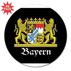"Black Bayern 3"" Lapel Sticker (48 pk)"