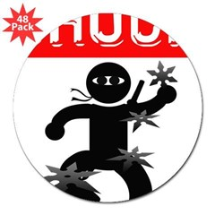 "Chuck Ninja Man 4 Throwing St 3"" Lapel Sticker (48 pk)"