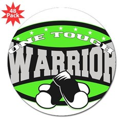 "Tough Lymphoma Warrior 3"" Lapel Sticker (48 pk)"