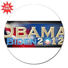 "Obama Biden - 3"" Lapel Sticker (48 pk)"